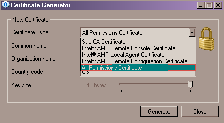 Certificate Manager - Certificate Generator - All Permissions