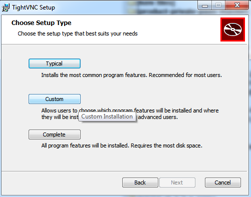 AMT TightVNC Viewer install custom