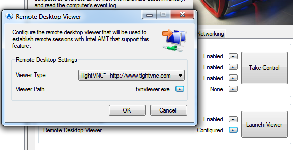 AMT TightVNC Viewer remote desktop viewer