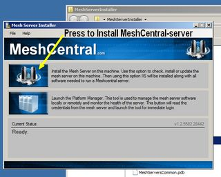 MeshCentral press to install