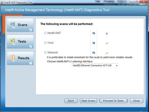 Diagnostics Tool error AMT9
